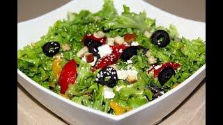 Греческий салат. С кунжутом. Простой лёгкий салат. Моя Dolce vita