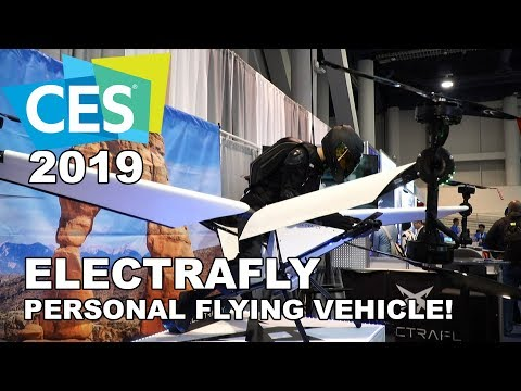 ELECTRAFLY Personal Flying Vehicle at CES 2019 (Flying Motorcycle)