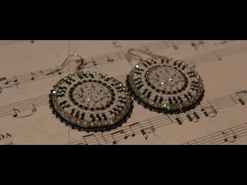 Beaded Music Earrings