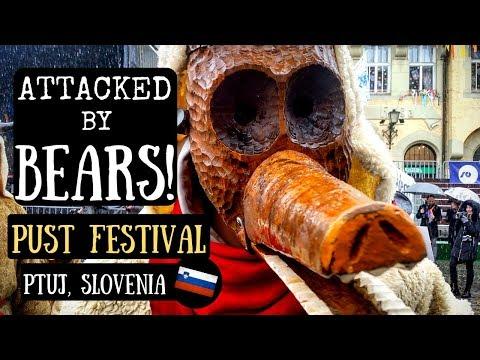 ATTACKED BY BEARS! Pust Festival | Ptuj, Slovenia 2018