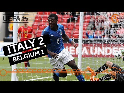U17 semi-final highlights: Italy v Belgium