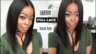 HAIRVIVI Black Bob Full Lace: Isabella | PERFECT SPRING & SUMMER HAIR ISSA Beginner Friendly Wig