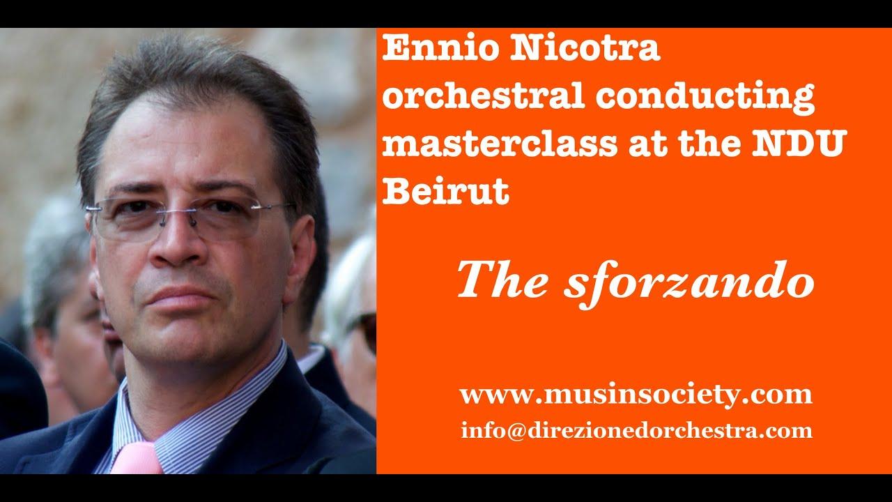 Orchestral conducting technique : The Sforzando   The Ilya