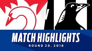 Sydney v Collingwood Highlights | Round 20, 2018 | AFL
