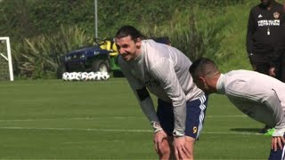 Football: First practice for Ibrahimovic with LA Galaxy