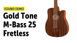 Gold Tone M-Bass 25 Fretless - Sound Demo (no talking)