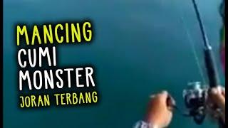 Mancing Cumi Raksasa sampai joran terbang