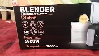 Блендер Сamry CR 4058 независимый обзор (ч1)