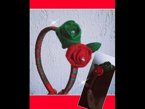 DIY FLOR  ROSAS DE FIELTRO   (FLOWER PINK...