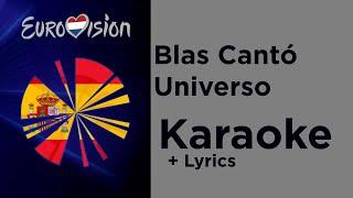 Blas Cantó - Universo (Karaoke) Spain Eurovision 2020