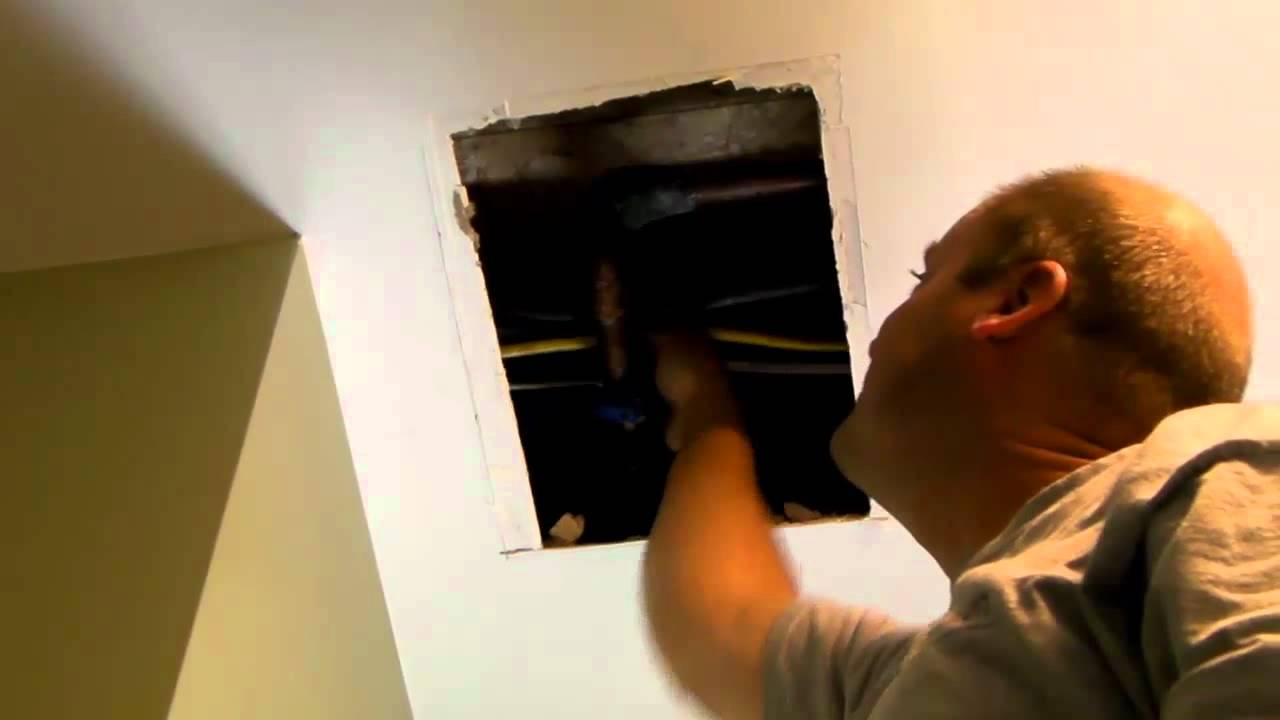 Fixing A Ceiling Leak Pinehurst YouTube - Water leaking from upstairs bathroom to downstairs