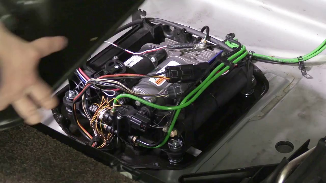 range rover p38 air suspension wiring diagram cat 5 telephone replacing the compressor on a 06-12 l322 - youtube