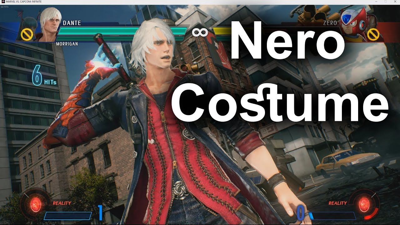 Marvel vs Capcom Infinite Nero wip costume mod for Dante