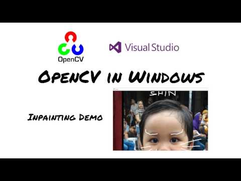 OpenCV in Windows] Inpainting sample - YouTube