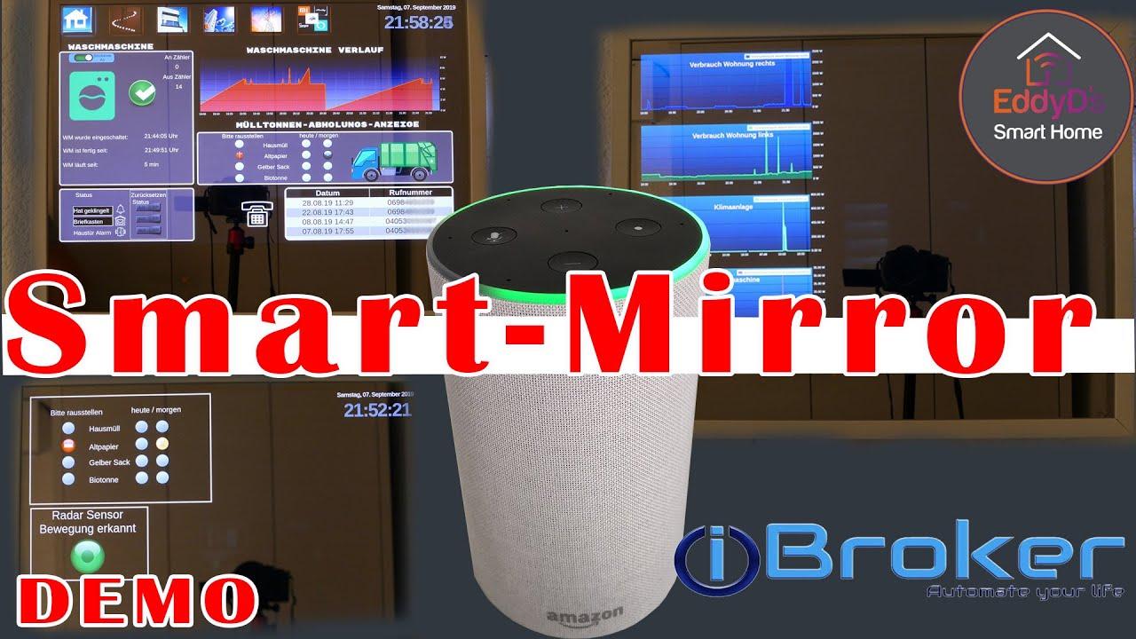 Alexa Smart Mirror [ Magic Mirror Spiegel Sprachsteuerung View wechsel  [Radar Sensor ESP D1 Mini]