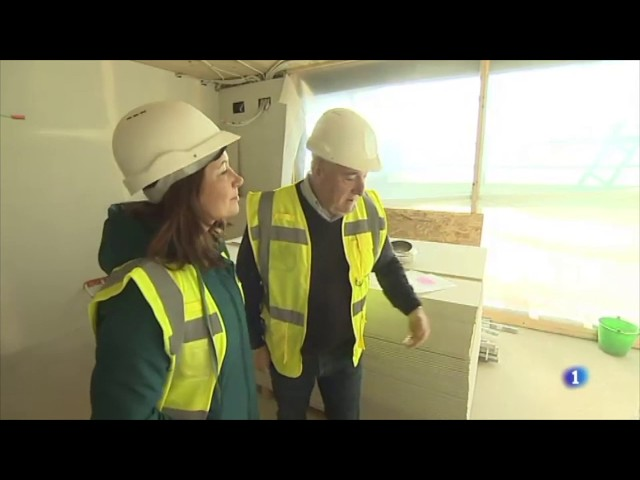 Las casas de madera en Catalunya, noticia en los informativos de TVE