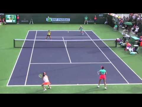 [1] M. Hingis/S. Mirza vs C. Dellacqua/S. Stosur - 2016 BNP Paribas Open