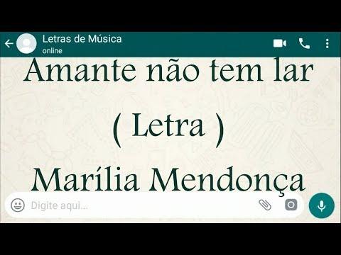 Amante não tem lar - Letra - Marília Mendonça