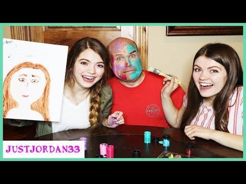Portrait Challenge Face Paint Dad / JustJordan33