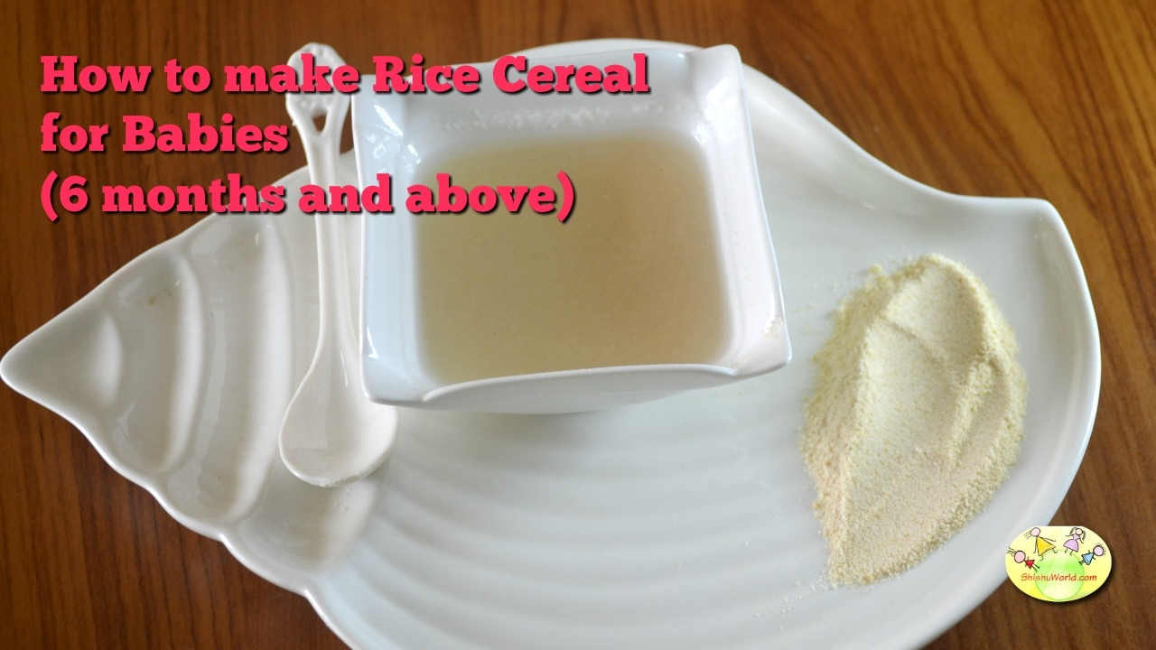 How to make instant rice cereal for babies6 months baby food how to make instant rice cereal for babies6 months baby food recipe homemade cerelac ccuart Images