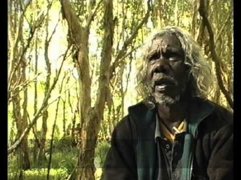 Billy Yarrawanga aboriginal artist and elder of the Dalabon tribe from central Arnhem Land