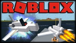 BUILDING JETS, MISSILES AND CARS IN ROBLOX!! -ROBLOX Crazy Alpha Plane