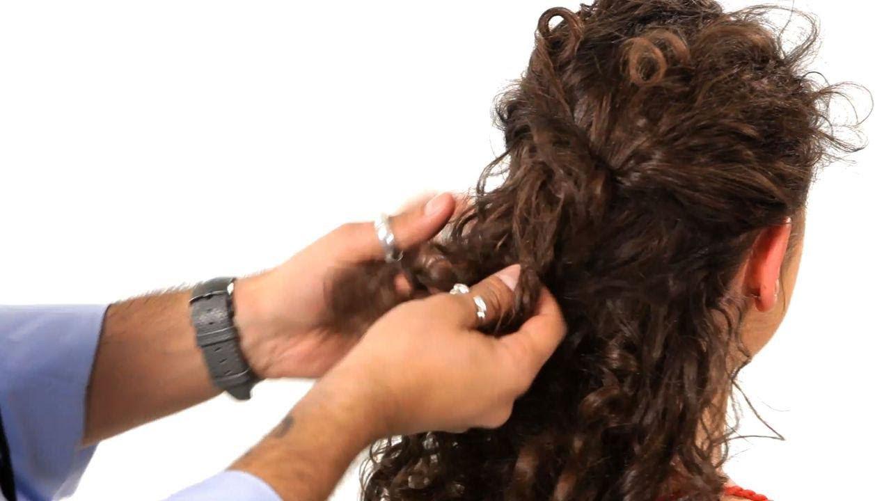 Everyday Look For Curly Hair Salon Hair Tutorial Youtube
