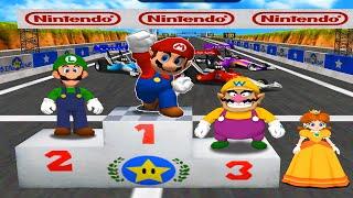 Mario Party 4 - Battle Mode - Mario vs Wario vs Luigi vs Daisy