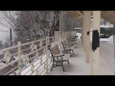 Snow Fall Near Murree and Ayubia National Park 12 Feb 2012 Pakistan