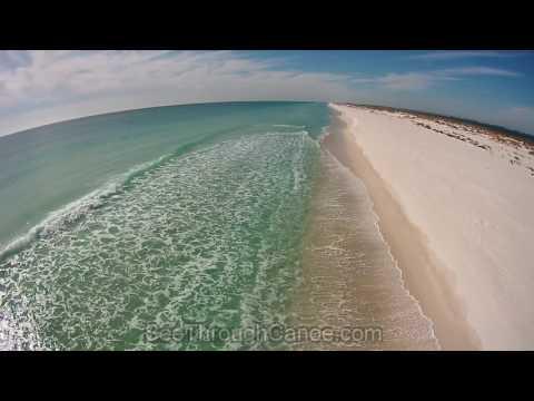 Aerial View of Gulf Islands National Seashore in Navarre & Pensacola Beach