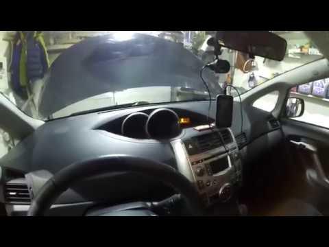Toyota Verso. Замена масла в вариаторе + мини обзор салона авто.