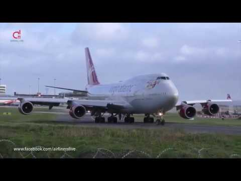 40mph Winds Plane Spotting - Manchester Airport Airliners Live