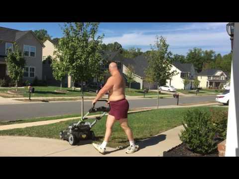 More Shirtless Mowing