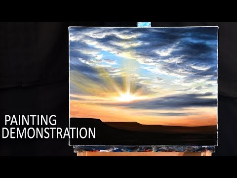 HOW TO PAINT A SKY & CLOUDS | Painting demo