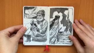 Moleskine Sketchbook Flip-Through: September 2016 - January 2017