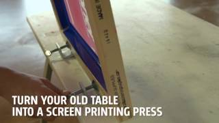 Screen Printing Table Hinge Clamps