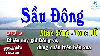Karaoke Sầu Đông Tone Nữ | Nhạc Sống | sầu đông karaoke beat nữ