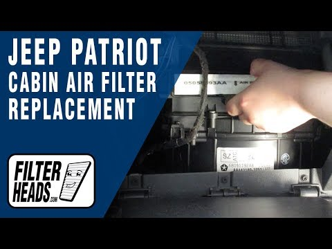 how to replace cabin air filter jeep patriot