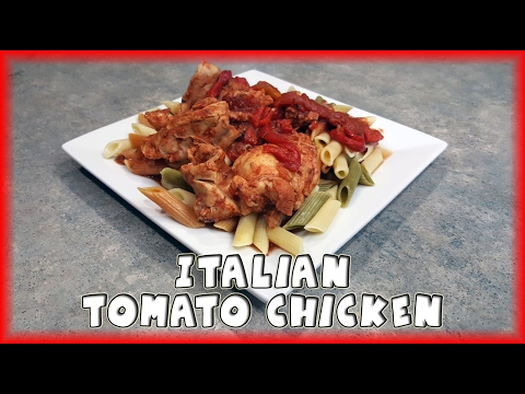 Slow Cooker Italian Tomato Chicken