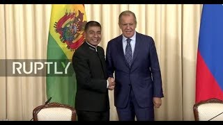 LIVE  Lavrov and Bolivian FM hold joint press conference in Moscow