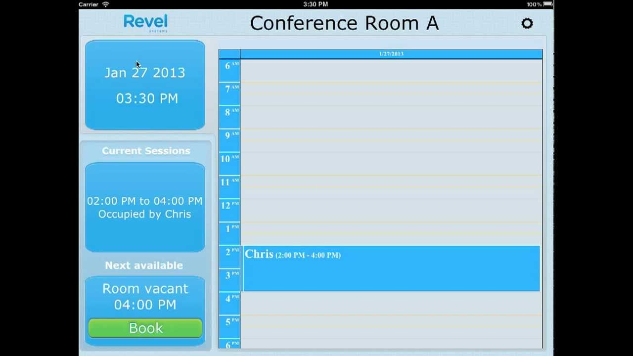 Conference Room Scheduling Software on Apple iPad works with ...