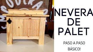 COMO FORRAR UNA NEVERA / HIELERA CON PALET (BASICO) | Empo | EP. 29
