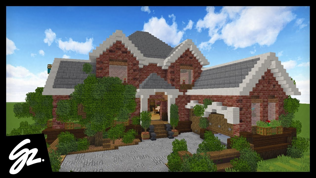 SUBURBAN MANSION HOUSE TOUR Minecraft Inspiration