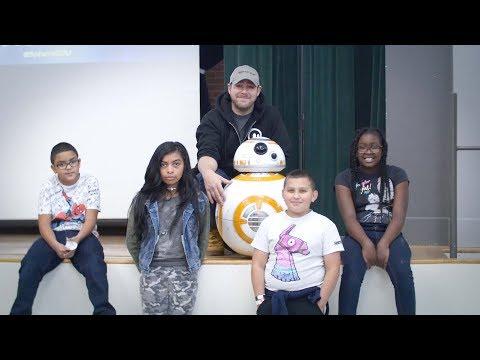 #IAMD11 - Adam Wilson from Sphero Visits Queen Palmer Elementary School
