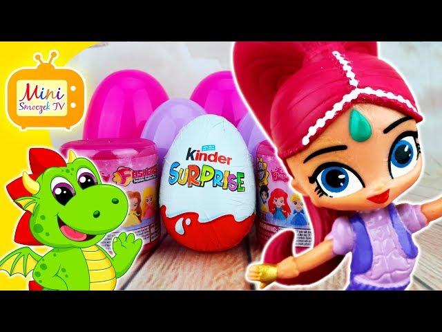 Shimmer i Shine Bajka | Księżniczki Disneya | Jajka Kinder Niespodzianki Fashems | Filmik Dla Dzieci