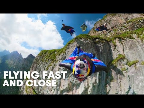 Wingsuit Flying Formation in