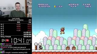 (38:24) Super Mario Bros.: The Lost Levels D-4 Warpless (Mario) speedrun