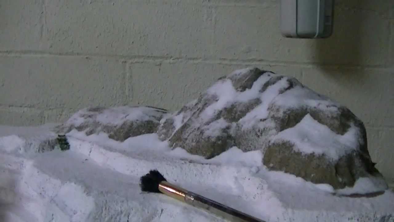 How To Make A Realistic Snow Caped Mountain Model Youtube