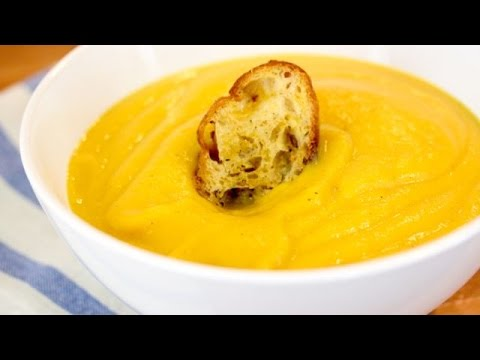 Roasted Butternut Squash Soup Recipe  (Dairy + Gluten Free) - Healthy Holiday Recipe