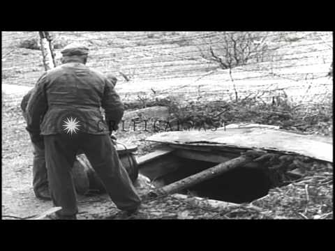 Prisoners working in the crematorium at a concentration camp in Flossenburg, Germ...HD Stock Footage